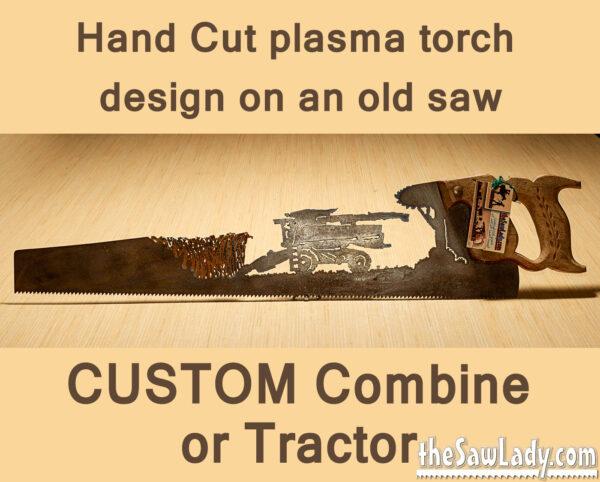 Metal art Custom tractor combine saw