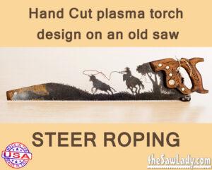 Metal Art Steer Roping Saw