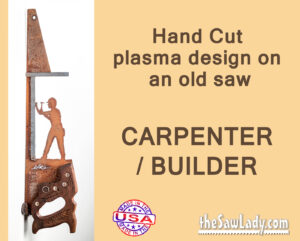 metal art carpenter builder saw