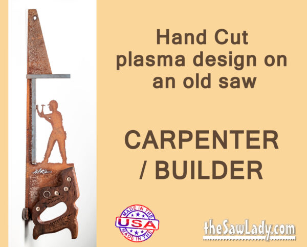 metal art carpenter builder saw