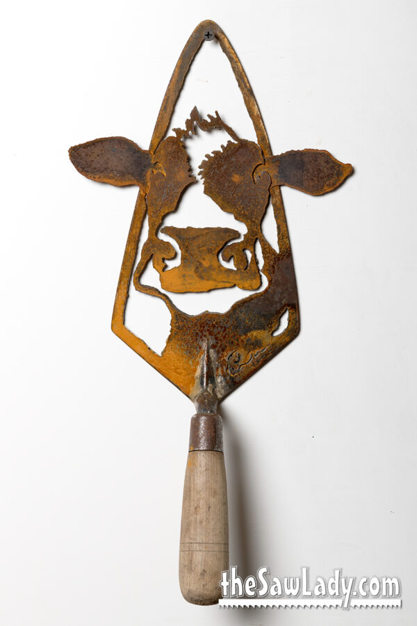 Metal Art cow trowel