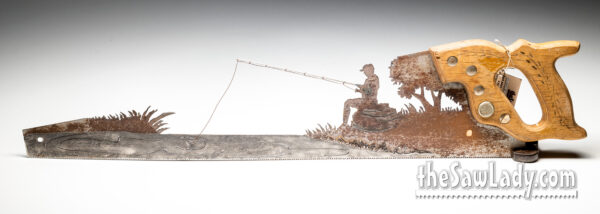 Metal Art Fishing by Stream Saw