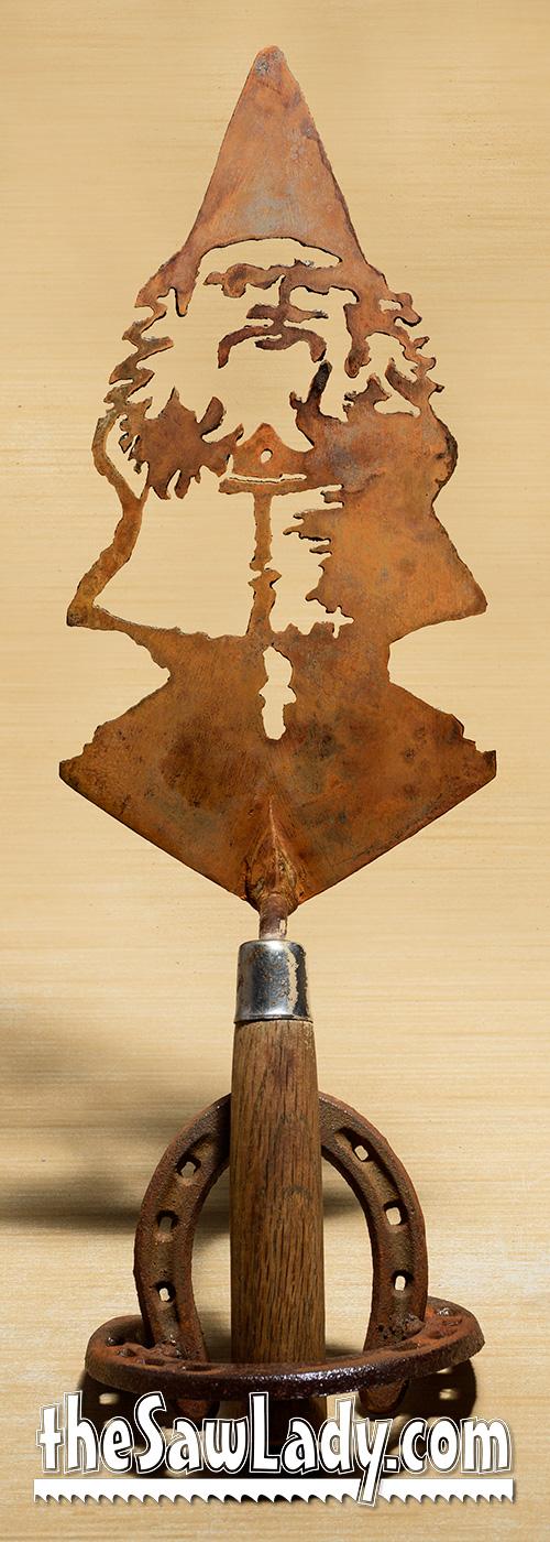 Metal Art Gnome Trowel