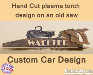 Metal art custom car or truck saw