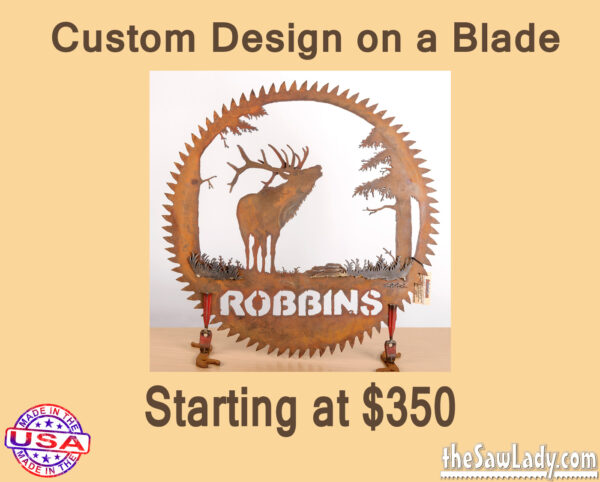 Custom Metal art on Round saw blade