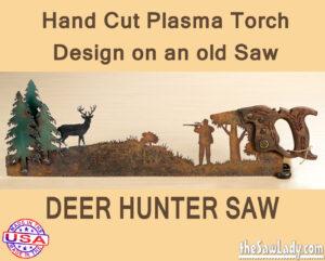 Metal Art Deer Hunter Saw