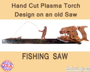 Metal Art Fisherman Saw