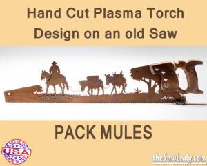 Metal Art Pack Mules Saw