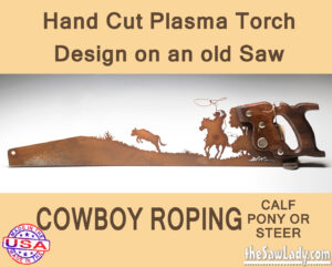 Metal Art Cowboy Roping Saw