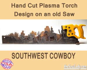 southwest cowboy rustic decor saw