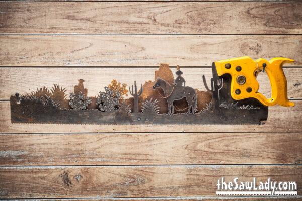 southwest cowboy rustic decor saw