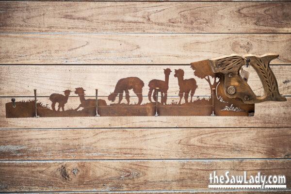 alpaca metal art decor gift