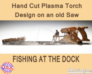 fishing-at-dock metal art saw