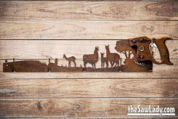 llama art gift metal saw
