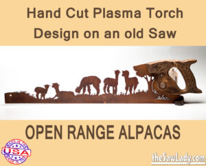 open-range-alpacas metal art saw