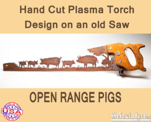 open-range-pigs metal art saw