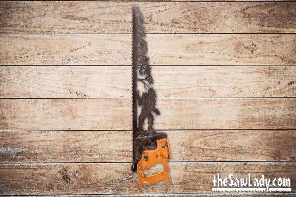 bigfoot sasquach metal art saw