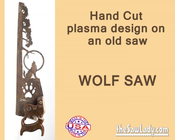 wolf-paw-saw metal art gift