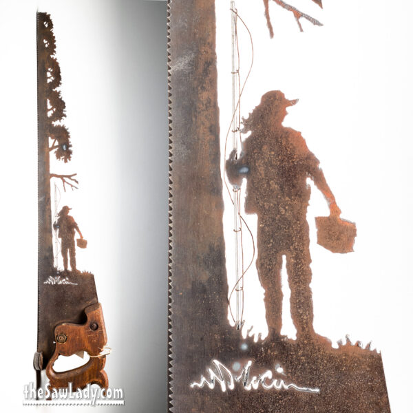 metal art saw Fishing-by-the-tree-Woman-Combo-1600-sig